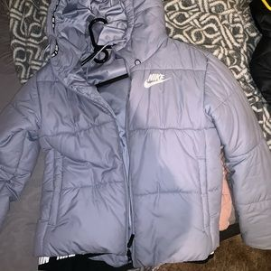 Light Blue Nike Puffer Winter Coat